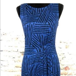 NWT LOFT blue and black shift sleeveless dress